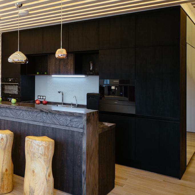 Кухня Ноа со стеклом