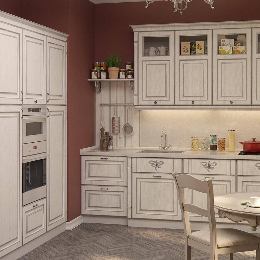 Кухня Катарина с патиной