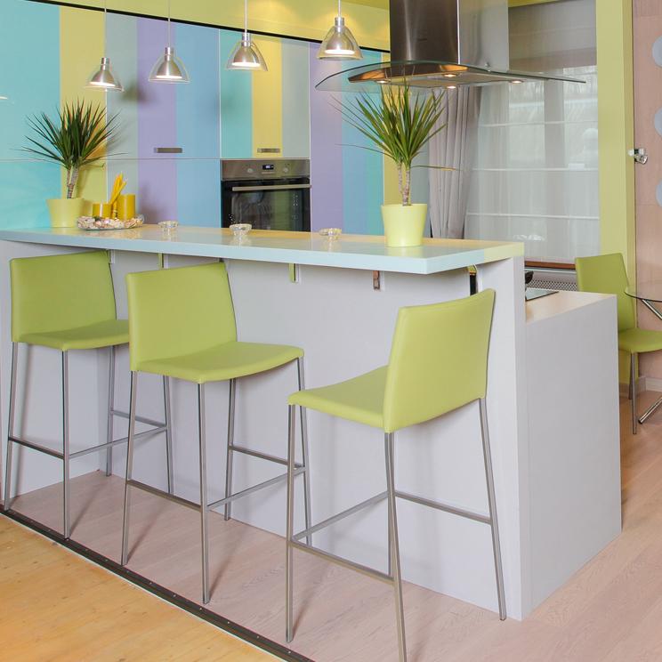 Кухня Флавия с цветной печатью (Ирис)