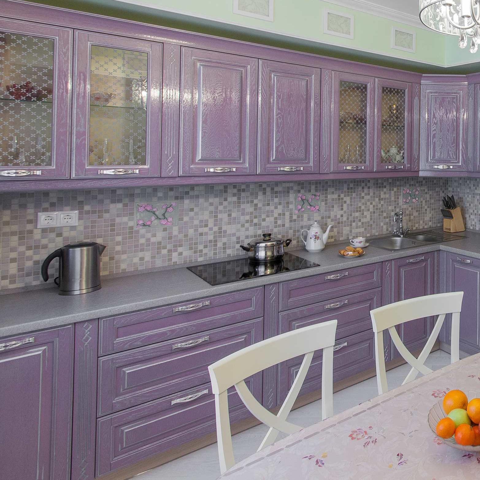 Кухня Виконт лиловый