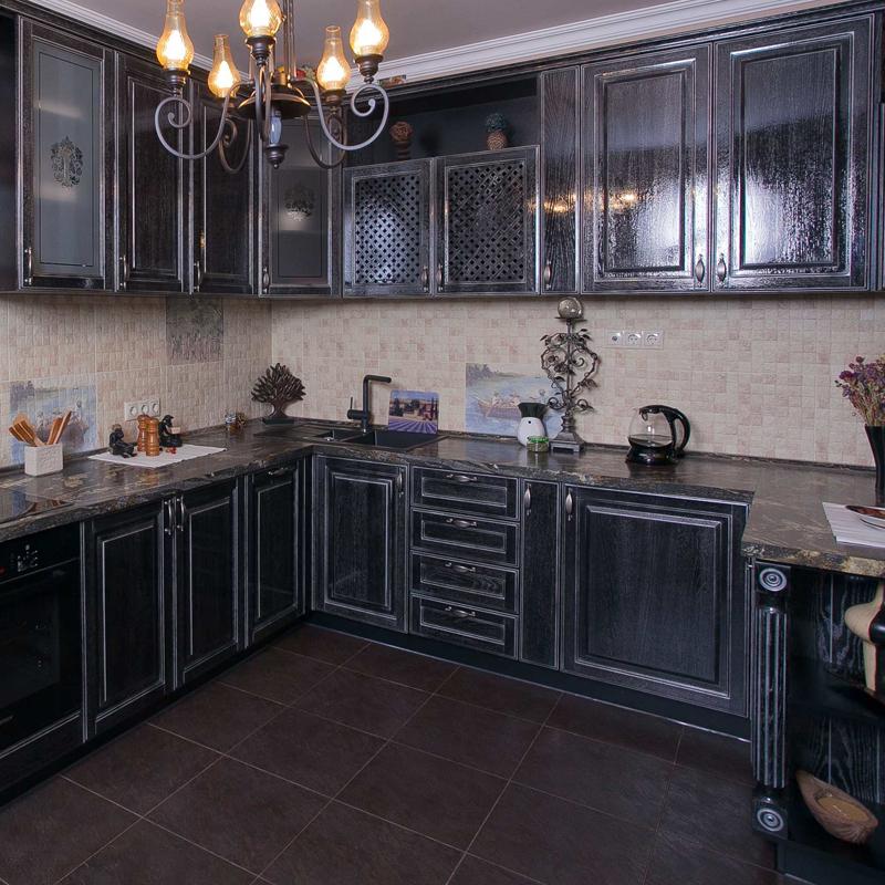 Кухня Виконт чёрный