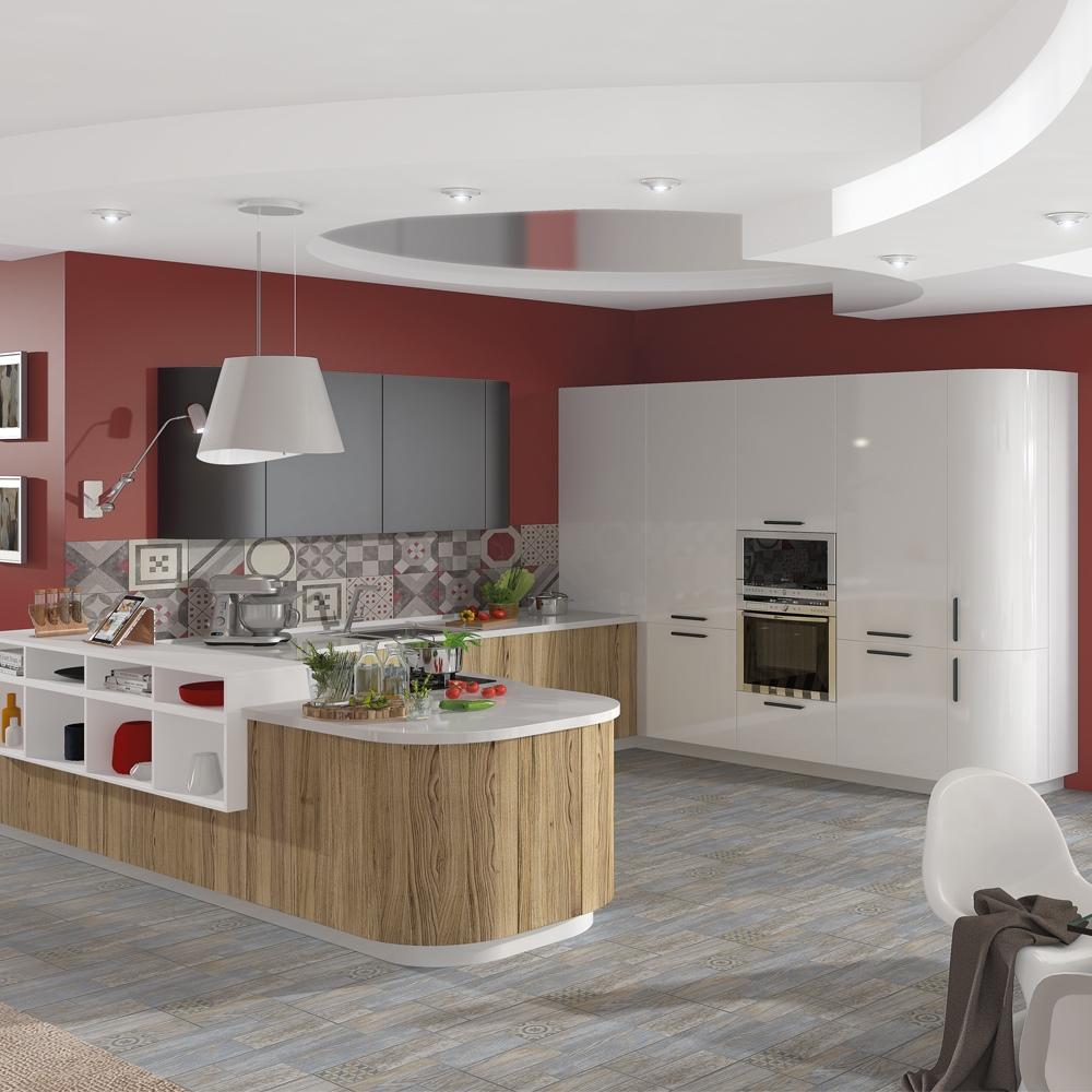 Кухня Эмма с радиусными элементами